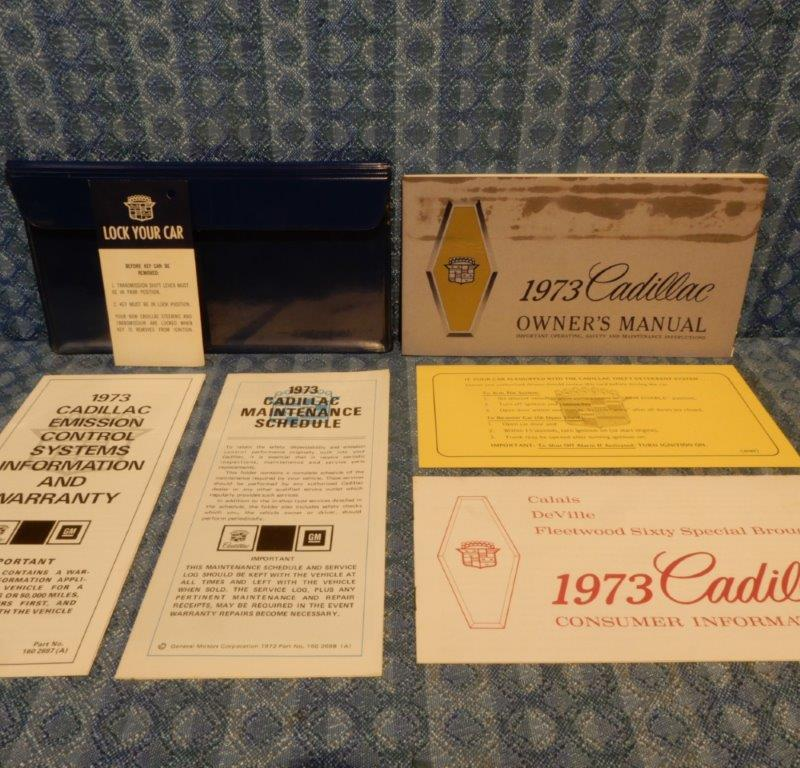 1973 Cadillac Original Owners Manual Package in Factory Pouch - 7 Pieces