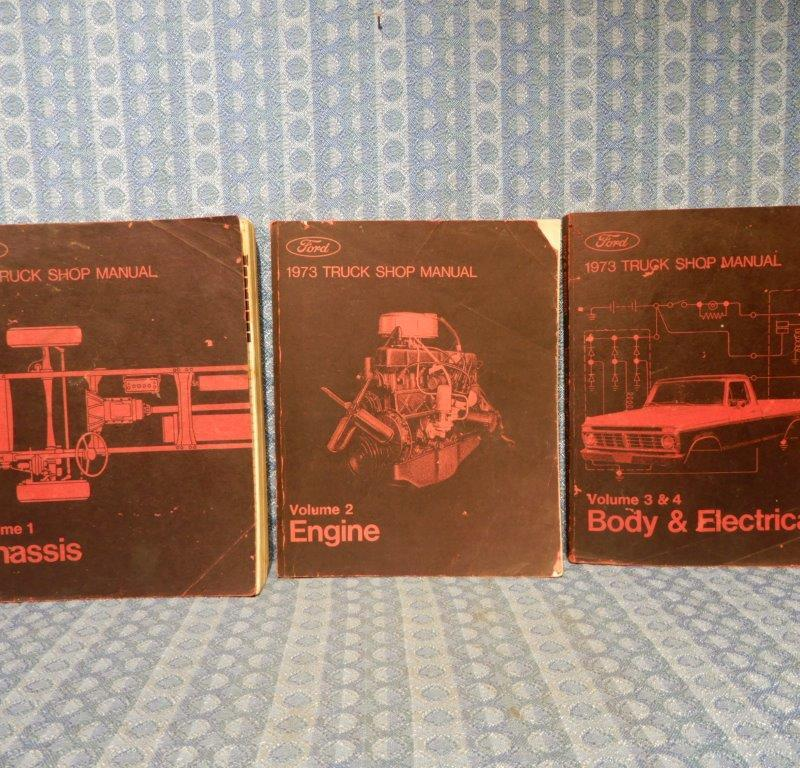 1973 Ford Truck - All Models (Ex Courier) Original Shop Manual 4 Volume Set