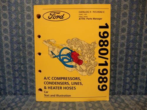 1980-1989 Ford Lincoln Mercury Car Original A/C Parts Catalog 81 82 83 84 85 87