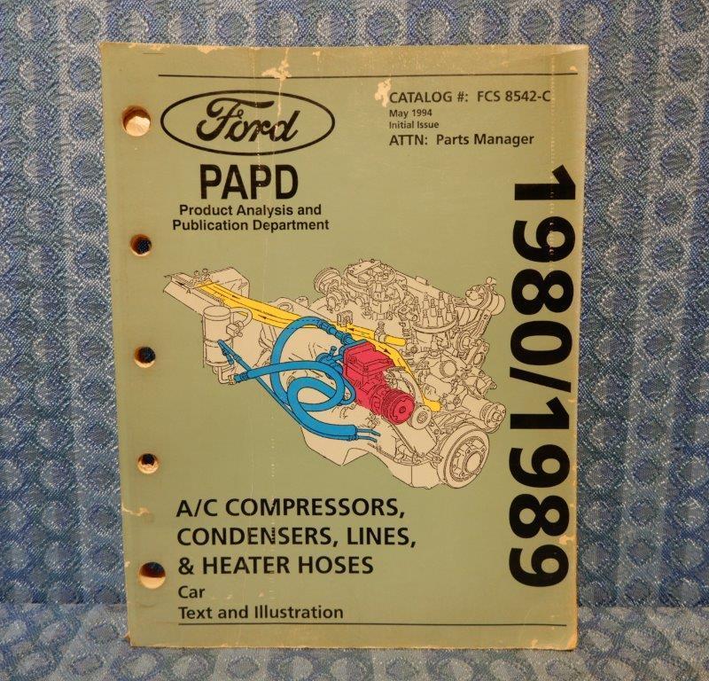 1980-1989 Ford Lincoln Mercury Original A/C Parts Catalog 1981 82 83 84 85 87 88