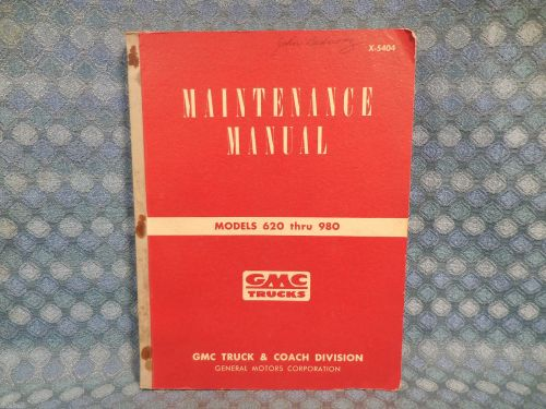 1954 GMC Truck Models 620-980 Original Shop Maintenance Manual
