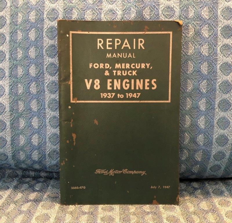 1937-1948 Ford, Mercury 1937-1947 Truck Original V8 Engine Repair Manual