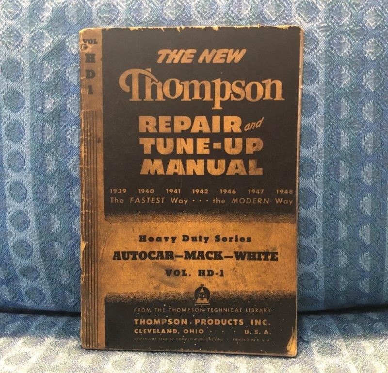 1939-1948 Autocar, Mack & White Trucks Original Repair & Tune-Up Manual 40 41 47