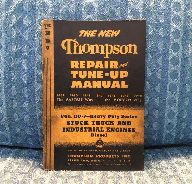 1939-1948 Diesel Truck Original Repair & Tune-Up Manual Caterpillar Cummins GM