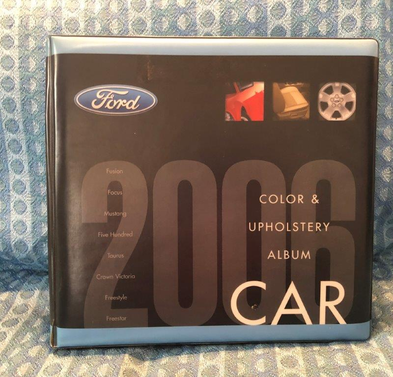 2006 Ford Car Original Dealer Shrowroom Color & Upholstery Album Mustang 500