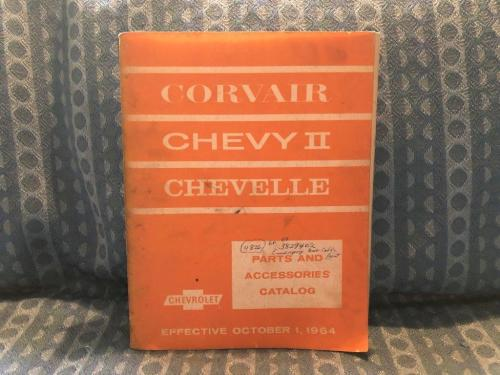 1964-65 Chevrolet Chevelle 60-65 Corvair 62-65 Chevy II, Original Parts Catalog