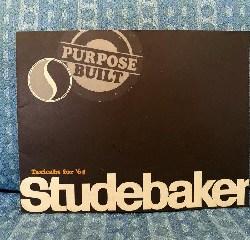 1964 Studebaker Purpose Built Taxicabs Original Sales Brochure