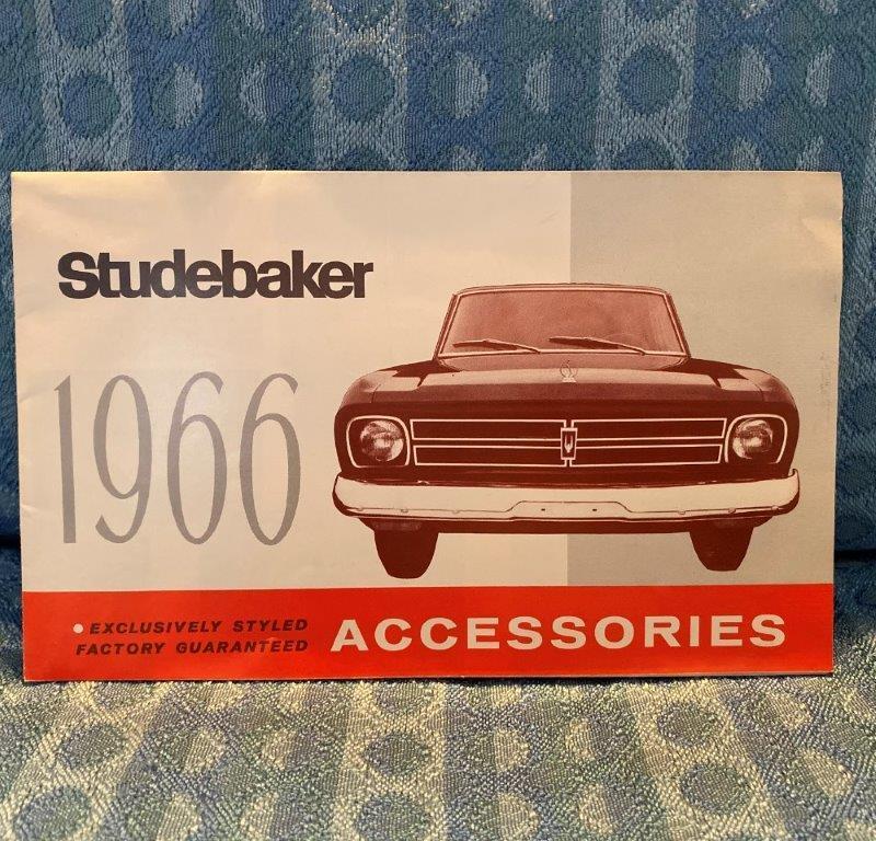 1966 Studebaker Accessories Original Sales Brochure