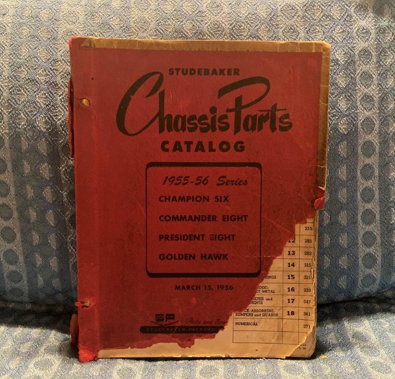 1955 1956 Studebaker Original Parts Catalog Golden Hawk President Champion