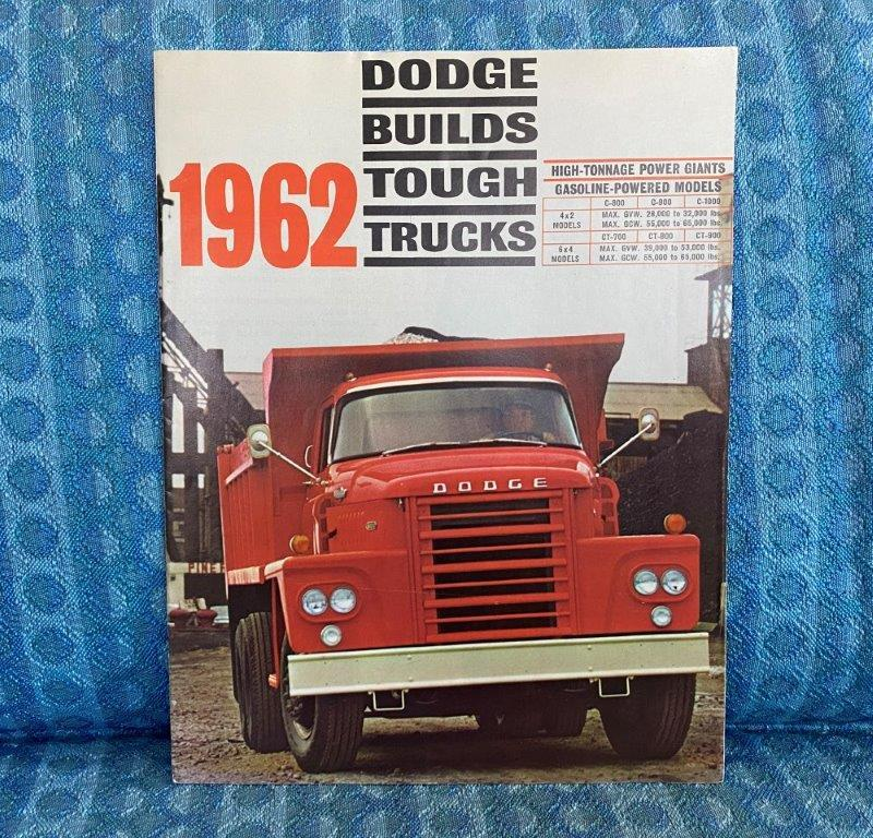 1962 Dodge Truck C800-C1000, CT700-CT900 Original Sales Brochure
