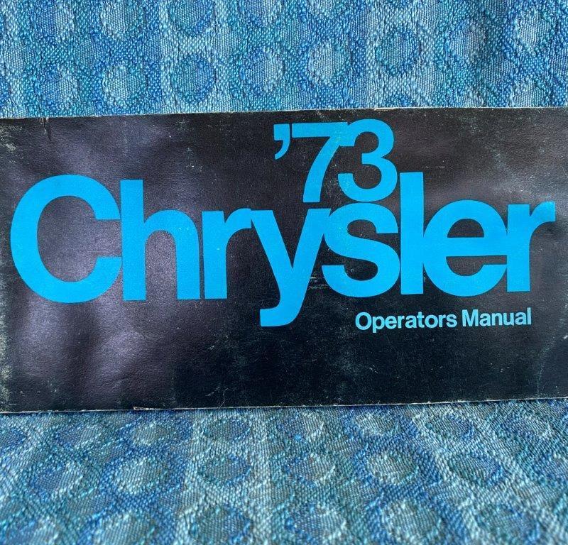 1973 Chrysler Original Owners / Operators Manual