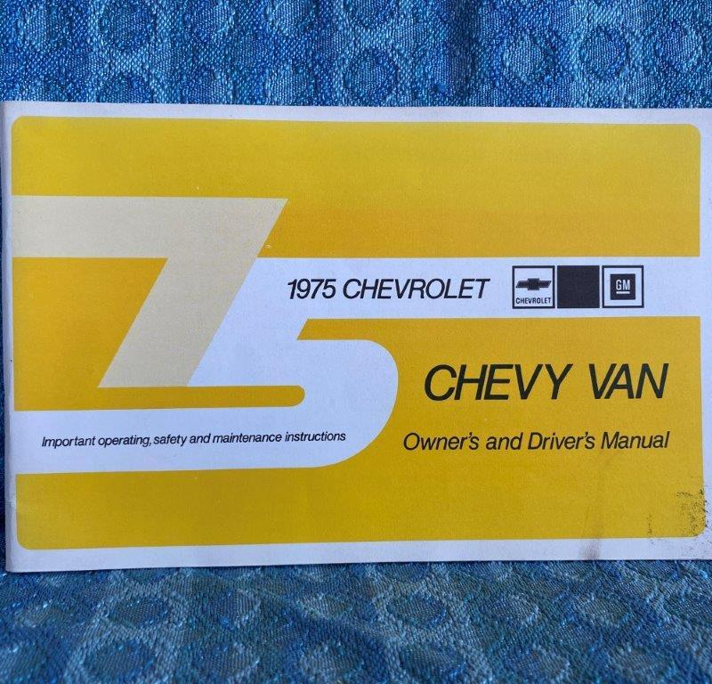 1975 Chevrolet G Van Original Owners / Drivers Manual