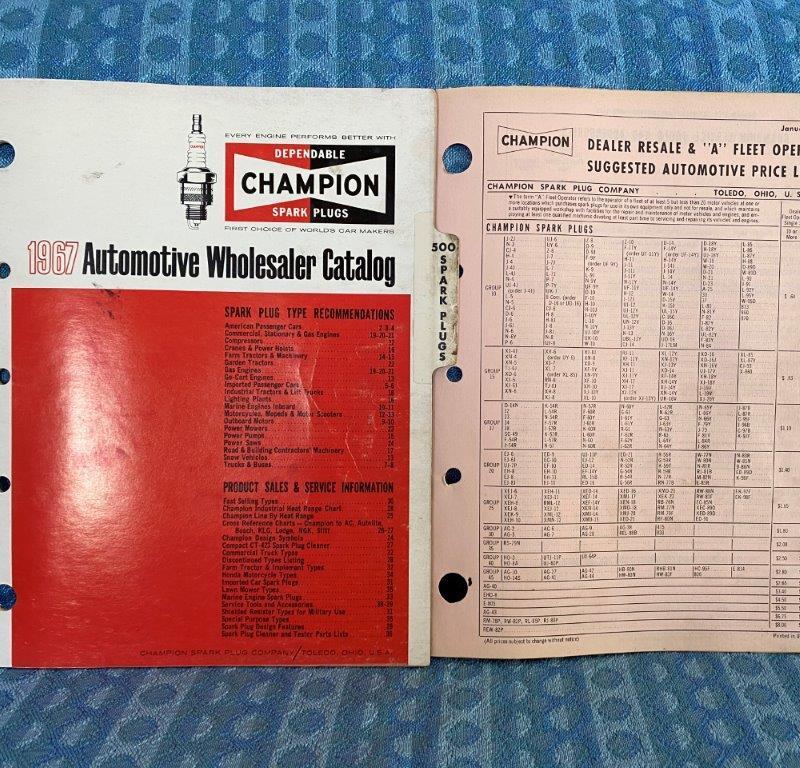 1930-1967 Champion Spark Plug Original Application Catalog Ford GM Mopar Import