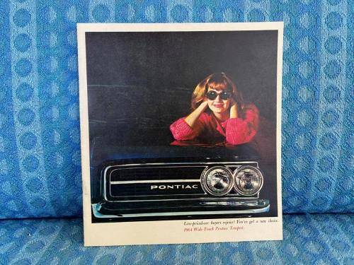 1964 Pontiac Tempest, Lemans, Custom Original Color Sales Brochure