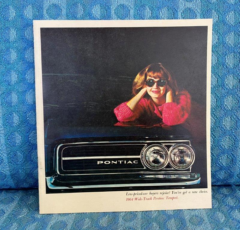 1964 Pontiac Tempest, Lemans, Custom Original Color Sales Brochure