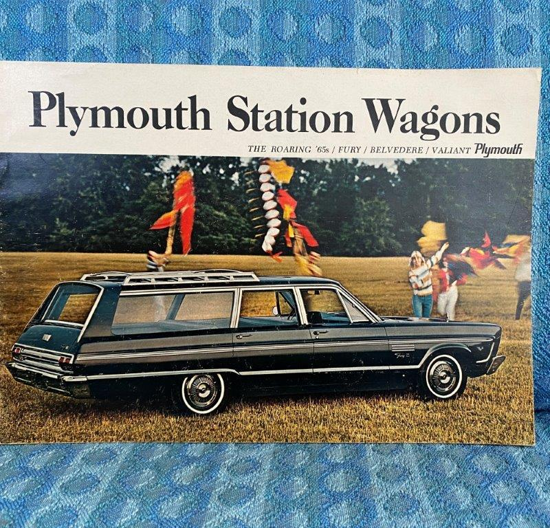 1965 Plymouth Wagons Original Sales Brochure - Fury Belvedere Valiant