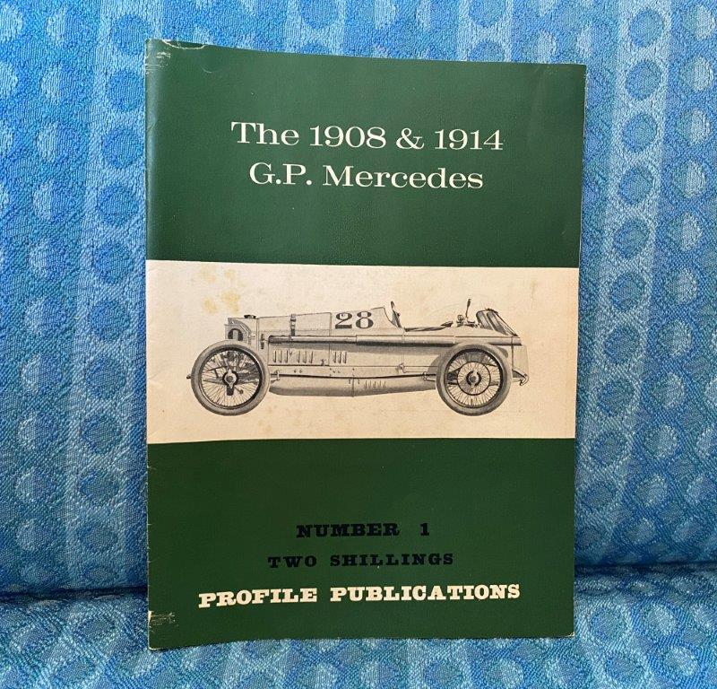 1908 1914 G.P. Mercedes Reference / History book By A. Bird 1966 Profile Pub.