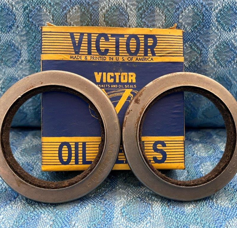 1955 1956 1957 Chevrolet Pass. Pair of NORS Victor Front Wheel Seals #46099