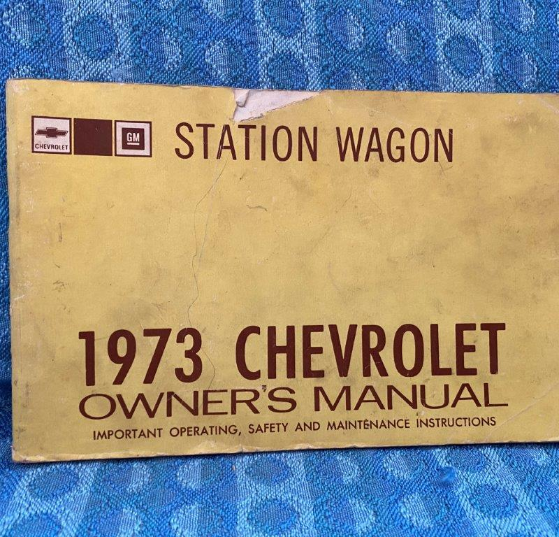 1973 Chevrolet Full Size Station Wagon Original Owners Manual