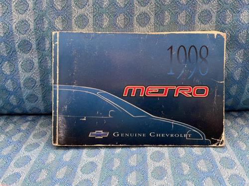 1998 Chevrolet Metro Original Owners Manual