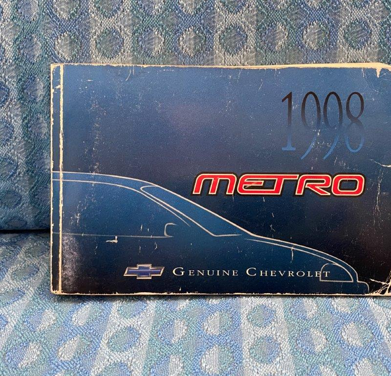 1998 Chevrolet Metro Original Owners Manual