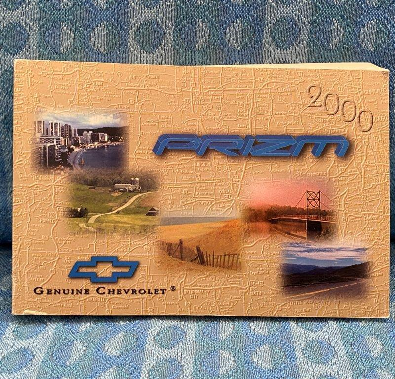2000 Chevrolet Prizm Original Owners Manual