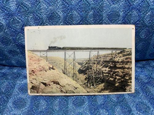1918 The California Limited crossing Canyon Diablo Arizona Original Postcard