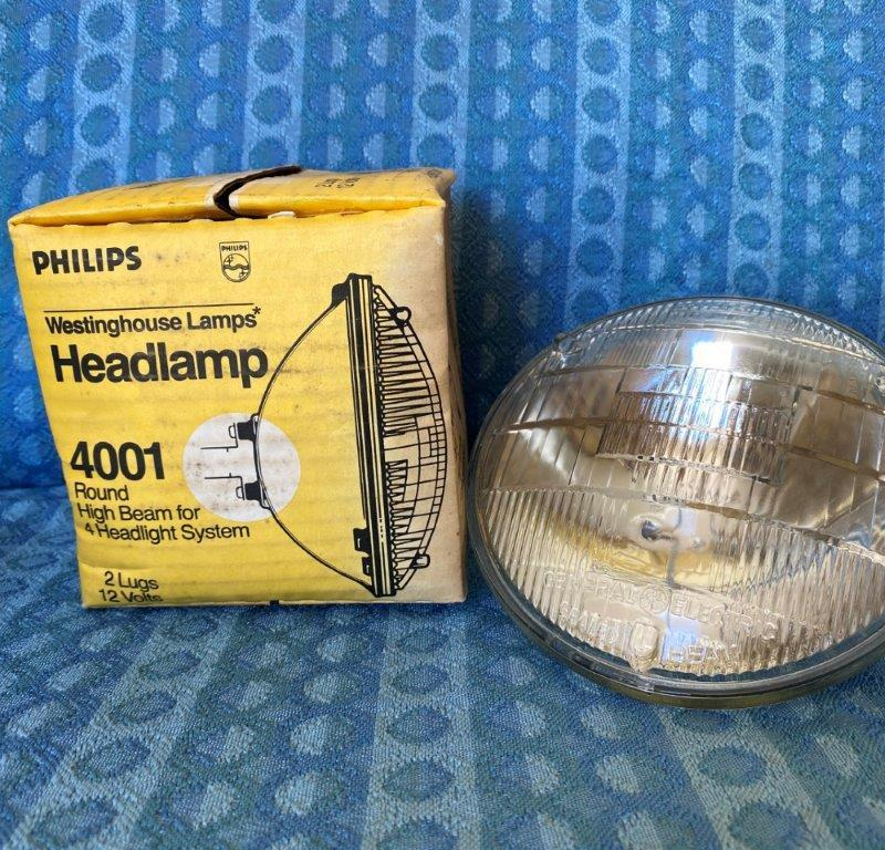"1955-1974 GM Ford Mopar NEW 5-3/4"" Round Headlight Bulb 56 57 58 59 60 62 #4001"