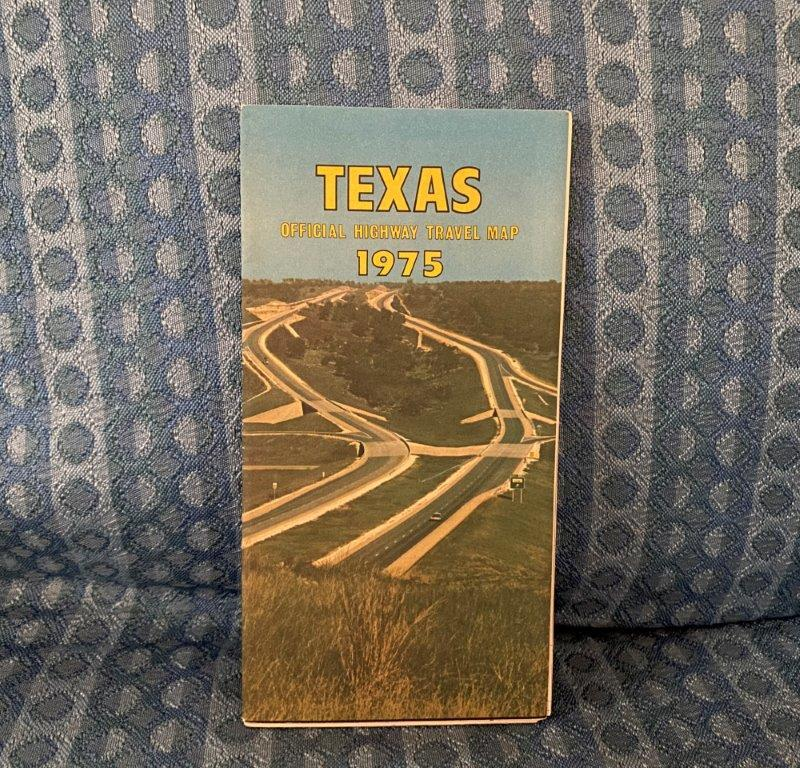 1975 Texas Official Highway Travel Map