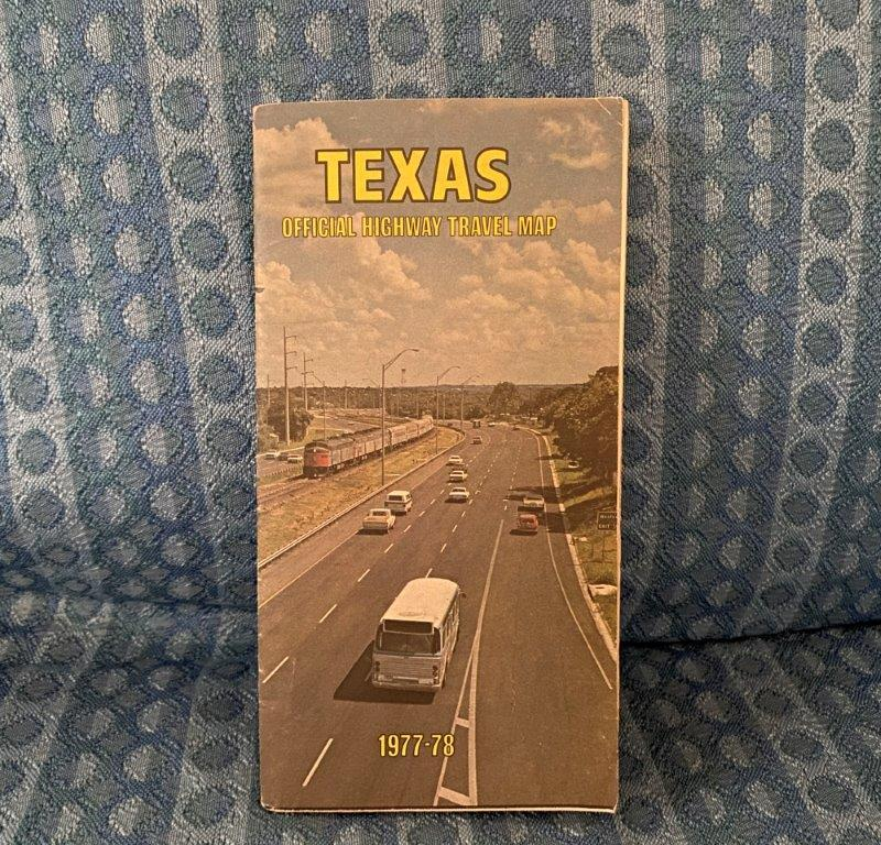 1977 - 1978 Texas Official Highway Travel Map
