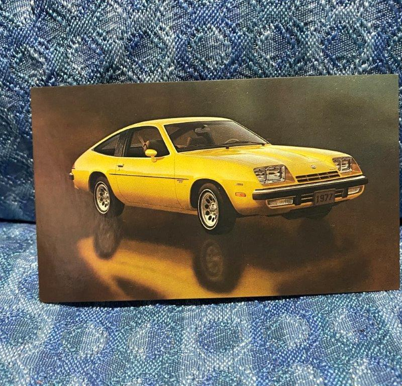 1977 Chevrolet Monza 2+2 Hatchback Coupe Original NOS Factory / Dealer Postcard