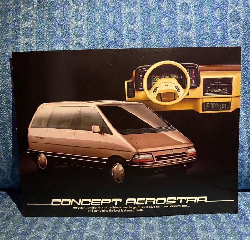1984 Ford Concept Aerostar Original Sales / Information Sheet