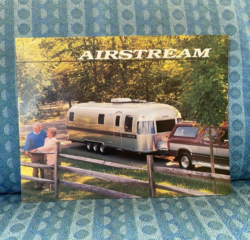 1989 Airstream Travel Trailer Original Sales Brochure