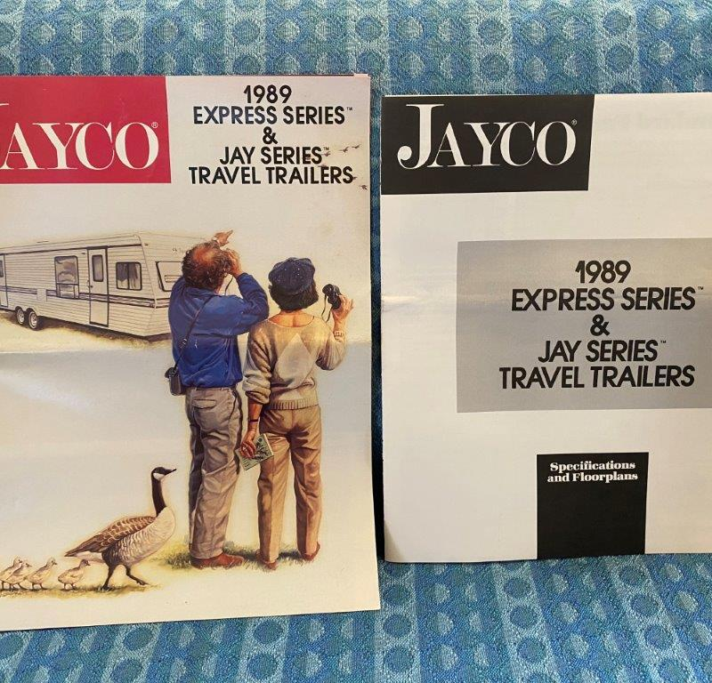 1989 Jayco Express, Jay Series Original Sales Brochure & Floorplan Book 2 Pc Set