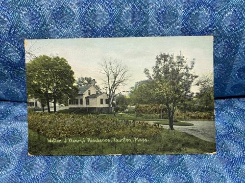 Early Original Postcard - Walter J Henry's Residence Taunton, Mass - Unposted