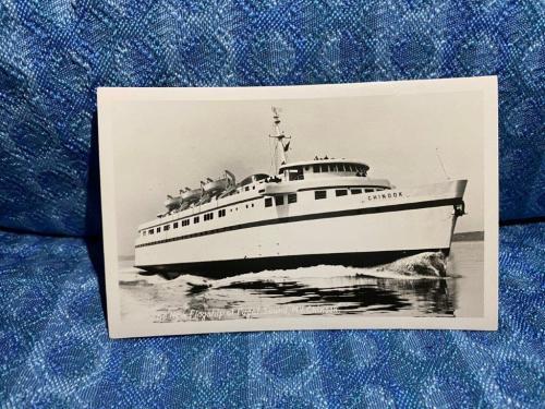 "Puget Sound ""The New Flagship M.V. Chinook"" Original Real Photo Postcard"