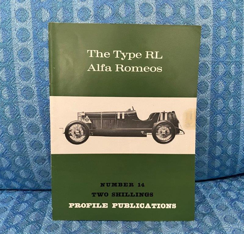 The Type RL Alfa Romeos Reference / History Book By Hull & Fusi 1966 Profile Pub