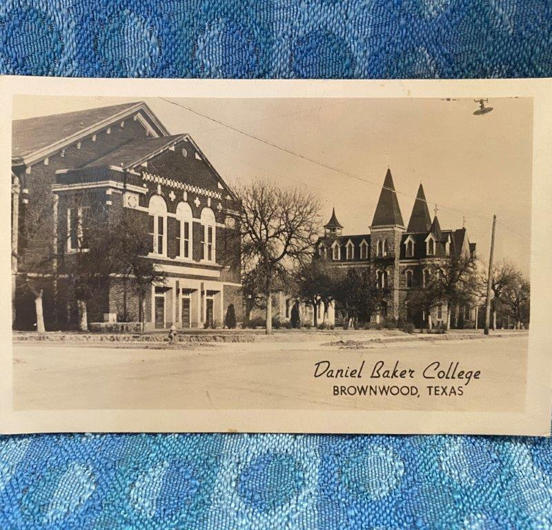 1947 Daniel Baker College Brownwood Texas Original Real Photo Postcard