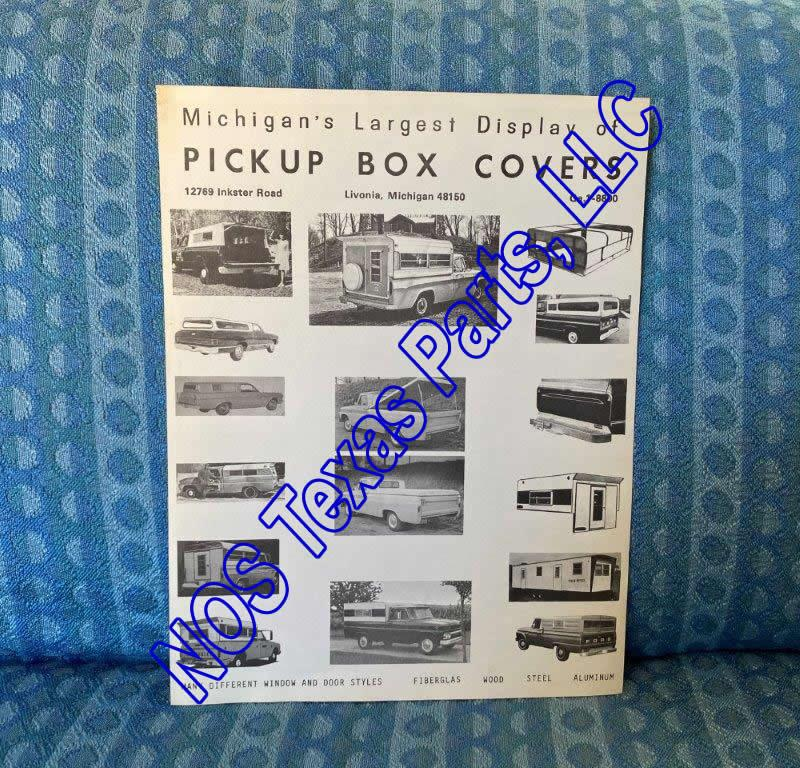 1966-1967 Michigan Pickup Box Covers Original Sales Flyer Chevy GMC Ford Dodge