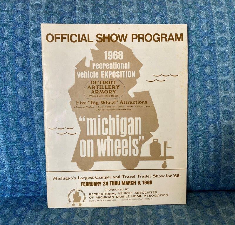 1968 Michigan RV Show Original Program Pickup Campers, Travel Trailers