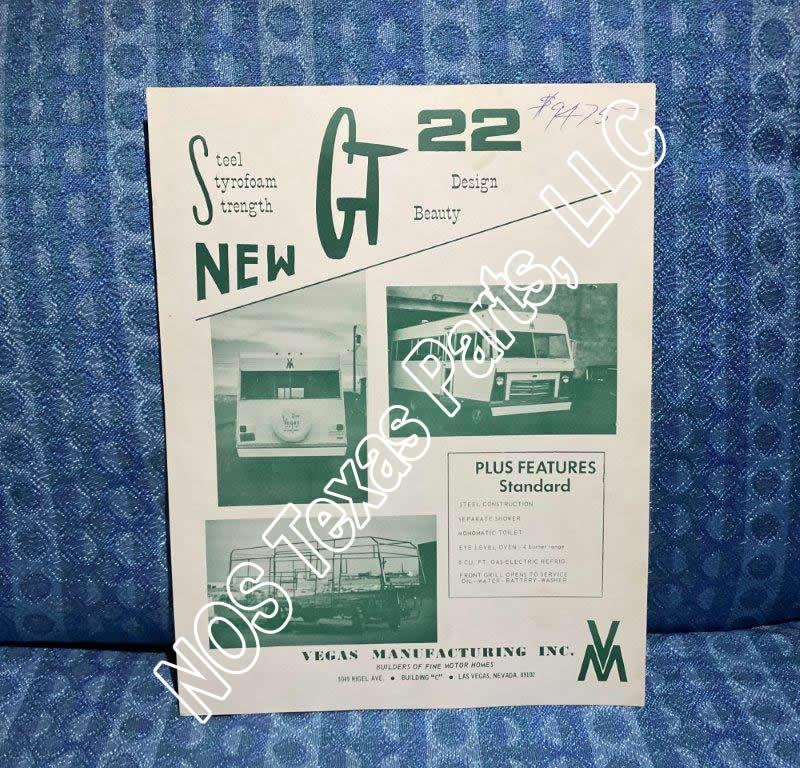 1968 Vegas Motorhome Original Sales Flyer