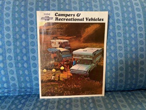 1969 Chevrolet Camper & Recreational Vehicle RV Original Color Sales Brochure