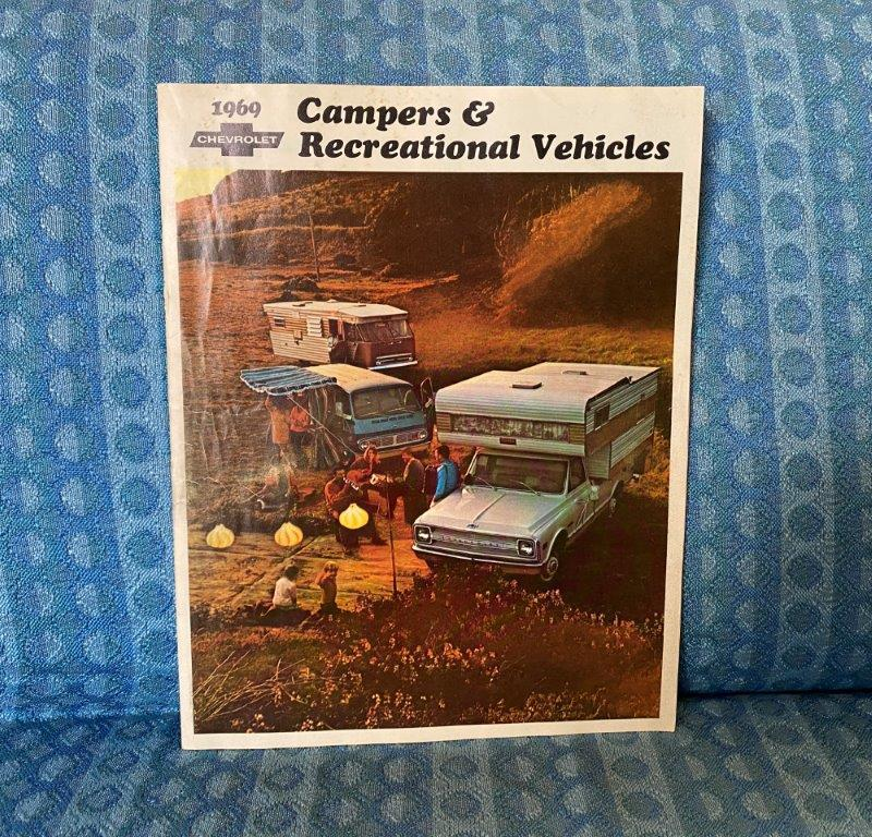 1969 Chevrolet Camper & Recreational Vehicle RV Original Color Sales Brochure