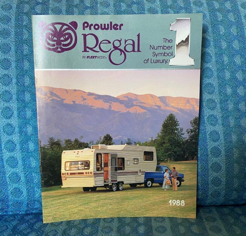 1988 Prowler Regal Travel Trailer & 5th Wheel Original Color Sales Brochure