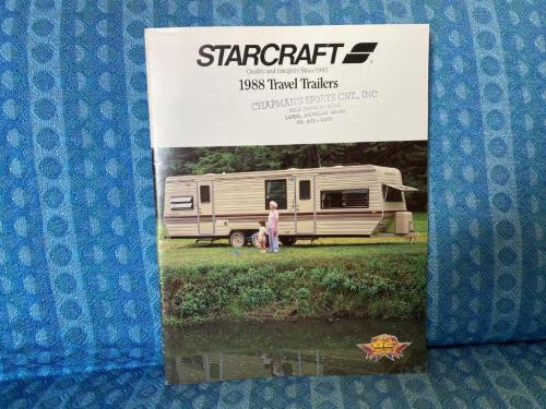 1988 Starcraft Travel Trailers Original Sales Brochure