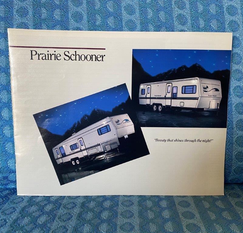 1989 Prairie Schooner 5th Wheel & Travel Trailer Original Color Sales Brochure