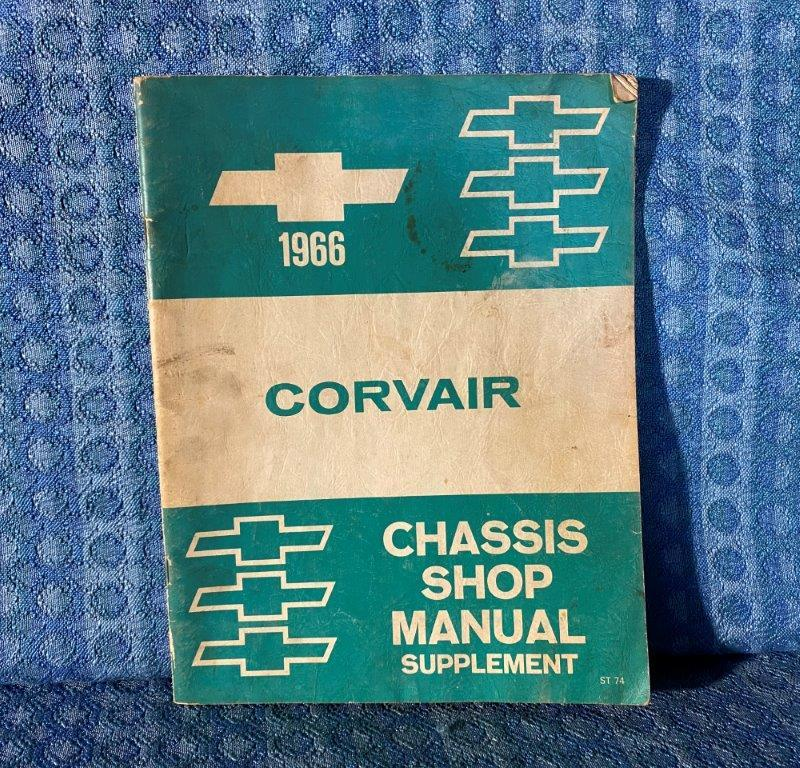 1966 Chevrolet Corvair Original Chassis Shop Manual Supplement