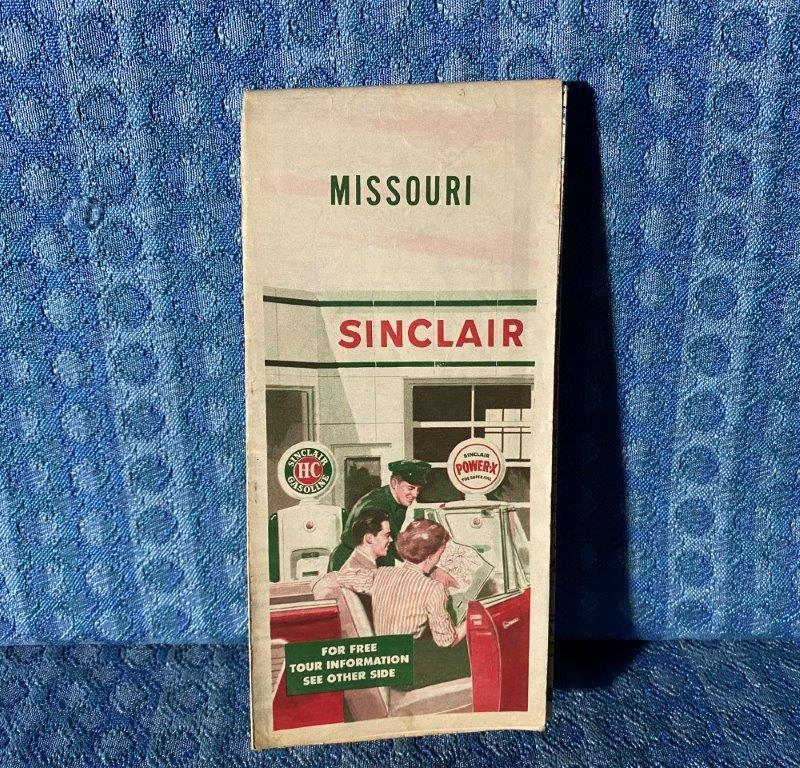 1954 Sinclair Refining Co. Missouri Original Road Map