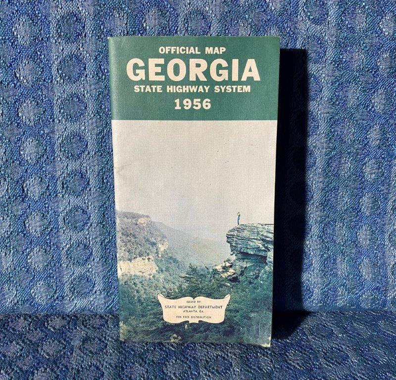 1956 Georgia Official State Highway System Original Road Map