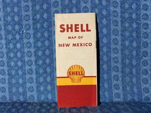 1956 New Mexico Shell Original Road Map